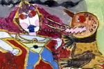 我画的奥特曼与怪兽儿童画
