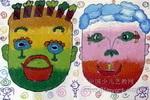奇怪的娃娃儿童水粉画