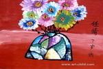 水晶瓶花儿童画作品欣赏