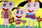 我和老师儿童画作品欣赏