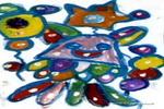 飞吧!气球儿童画