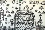 好大的蛋糕房子儿童画作品欣赏