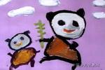 吃吧,孩子儿童画作品欣赏