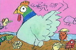 蛋壳破了儿童画作品欣赏