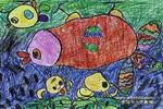 在雨中儿童画2幅