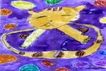 小花猫儿童画4幅