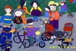 看车儿童画