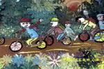 秋游儿童画2幅