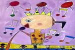 我是小小歌唱家儿童画2幅