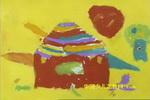 会飞的房子儿童画2幅