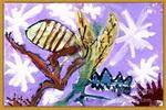 变形画-螳螂儿童画