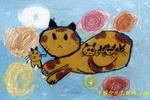 猫妈妈和它的宝贝儿童画