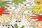丛林小伙伴儿童画作品欣赏
