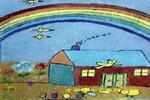 七彩家园儿童画