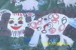 草原上的羊儿童画