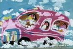 飞天车儿童画图片