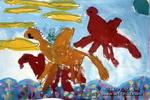 飞龙儿童水粉画
