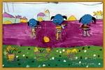 我心爱的小木马儿童画