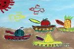 水果战队儿童画图片
