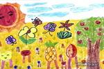 水果家族儿童水粉画