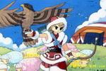 牧羊女儿童画