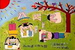画画美丽的祖国儿童画作品欣赏