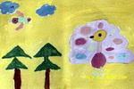漂亮的孔雀儿童画