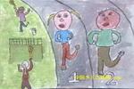 加强锻炼抗击非典儿童画