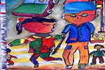 引路儿童画作品欣赏