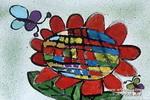 向日葵与蝴蝶儿童画作品欣赏