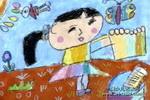 洗手帕儿童水粉画