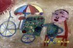 卖水果的爷爷儿童画
