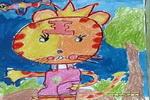 大头老虎儿童画作品欣赏