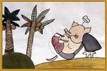 猪八戒吃西瓜儿童画2幅