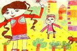 快乐新疆妹儿童画作品欣赏