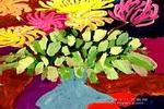 菊花和水果儿童画作品欣赏