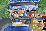 游石笼沟儿童画