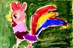 骄傲的公鸡儿童画
