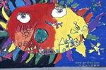 飞向太阳的人儿童画作品欣赏