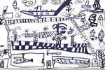 参观地下科技宫儿童画作品欣赏