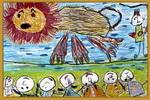驯狮儿童画