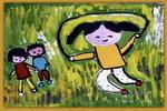 我会跳绳了儿童画