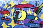 游太空儿童画3幅