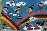 彩虹乐园儿童画作品欣赏