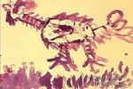 奔跑的鸡儿童画作品欣赏