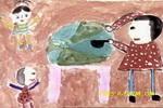 吃西瓜喽儿童画