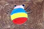 蜘蛛真能干儿童画作品欣赏
