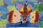蝴蝶儿童水粉画