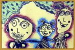 郊游儿童画7幅