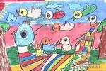 在妈妈的背上儿童画作品欣赏